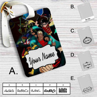 The Team Young Justice Custom Leather Luggage Tag