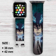 Blue Exorcist Custom Apple Watch Band Leather Strap Wrist Band Replacement 38mm 42mm