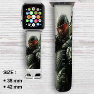 Crysis 3 Custom Apple Watch Band Leather Strap Wrist Band Replacement 38mm 42mm