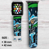 Danny Phantom Custom Apple Watch Band Leather Strap Wrist Band Replacement 38mm 42mm