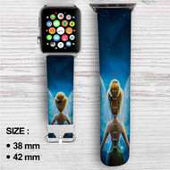 Disney Tinkerbell Custom Apple Watch Band Leather Strap Wrist Band Replacement 38mm 42mm