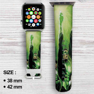 Green Lantern Custom Apple Watch Band Leather Strap Wrist Band Replacement 38mm 42mm