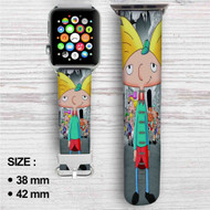 Hey Arnold Custom Apple Watch Band Leather Strap Wrist Band Replacement 38mm 42mm