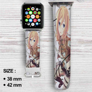 Historia Reiss Shingeki no Kyojin Attack on Titan Custom Apple Watch Band Leather Strap Wrist Band Replacement 38mm 42mm