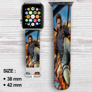 Just Cause 3 Custom Apple Watch Band Leather Strap Wrist Band Replacement 38mm 42mm