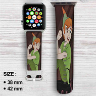 Peter Pan Disney Custom Apple Watch Band Leather Strap Wrist Band Replacement 38mm 42mm
