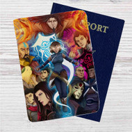 Avatar The Legend of Korra Custom Leather Passport Wallet Case Cover