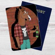 Bojack Horseman Custom Leather Passport Wallet Case Cover