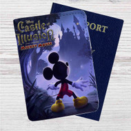 Castle of Illusion Custom Leather Passport Wallet Case Cover