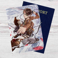 Ereb Jaeger Attack on Titan Custom Leather Passport Wallet Case Cover