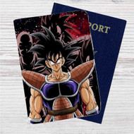 Goku Saiyan Dragon Ball Z Custom Leather Passport Wallet Case Cover