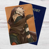 Kakashi Hatake Naruto Shippuuden Custom Leather Passport Wallet Case Cover
