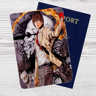Light Yagami Death Note Custom Leather Passport Wallet Case Cover