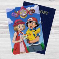 Pokemon Ash Pikachu Custom Leather Passport Wallet Case Cover
