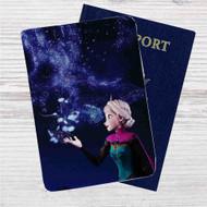 Princess Elsa Disney Frozen Custom Leather Passport Wallet Case Cover