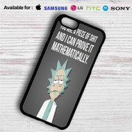Rick and Morty Quotes iPhone 4/4S 5 S/C/SE 6/6S Plus 7| Samsung Galaxy S4 S5 S6 S7 NOTE 3 4 5| LG G2 G3 G4| MOTOROLA MOTO X X2 NEXUS 6| SONY Z3 Z4 MINI| HTC ONE X M7 M8 M9 M8 MINI CASE
