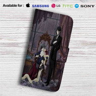 Black Butler Custom Leather Wallet iPhone 4/4S 5S/C 6/6S Plus 7| Samsung Galaxy S4 S5 S6 S7 Note 3 4 5| LG G2 G3 G4| Motorola Moto X X2 Nexus 6| Sony Z3 Z4 Mini| HTC ONE X M7 M8 M9 Case