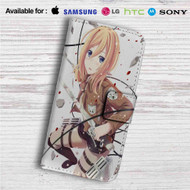 Historia Reiss Shingeki no Kyojin Attack on Titan Custom Leather Wallet iPhone 4/4S 5S/C 6/6S Plus 7| Samsung Galaxy S4 S5 S6 S7 Note 3 4 5| LG G2 G3 G4| Motorola Moto X X2 Nexus 6| Sony Z3 Z4 Mini| HTC ONE X M7 M8 M9 Case