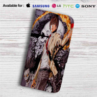Light Yagami Death Note Custom Leather Wallet iPhone 4/4S 5S/C 6/6S Plus 7| Samsung Galaxy S4 S5 S6 S7 Note 3 4 5| LG G2 G3 G4| Motorola Moto X X2 Nexus 6| Sony Z3 Z4 Mini| HTC ONE X M7 M8 M9 Case