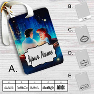 Ariel and Eric Disney Custom Leather Luggage Tag