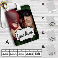 Arrow The Flash Custom Leather Luggage Tag