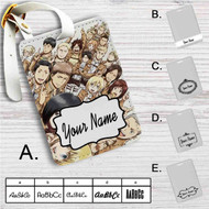 Attack On Titan Collage Custom Leather Luggage Tag