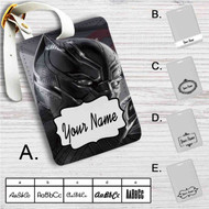 Black Panther Custom Leather Luggage Tag