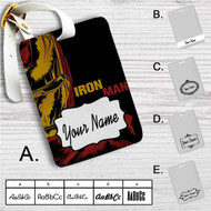 Iron Man Marvel Custom Leather Luggage Tag