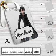 Kirito Sword Art Online Custom Leather Luggage Tag
