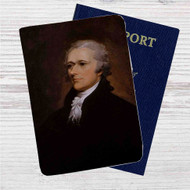 Alexander Hamilton Custom Leather Passport Wallet Case Cover