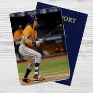 Colby Rasmus Houston Astros Custom Leather Passport Wallet Case Cover