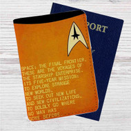 Star Trek Spock and Captain Kirk Quotes Custom Leather Passport Wallet Case Cover