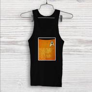 Star Trek Spock and Captain Kirk Quotes Custom Men Woman Tank Top T Shirt Shirt