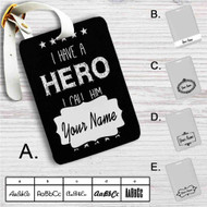 Father's Day Quotes Hero Custom Leather Luggage Tag