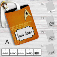 Star Trek Spock and Captain Kirk Quotes Custom Leather Luggage Tag