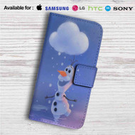 Olaf Disney Frozen Custom Leather Wallet iPhone 4/4S 5S/C 6/6S Plus 7| Samsung Galaxy S4 S5 S6 S7 Note 3 4 5| LG G2 G3 G4| Motorola Moto X X2 Nexus 6| Sony Z3 Z4 Mini| HTC ONE X M7 M8 M9 Case