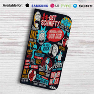Rick and Morty Collage Quotes Custom Leather Wallet iPhone 4/4S 5S/C 6/6S Plus 7| Samsung Galaxy S4 S5 S6 S7 Note 3 4 5| LG G2 G3 G4| Motorola Moto X X2 Nexus 6| Sony Z3 Z4 Mini| HTC ONE X M7 M8 M9 Case