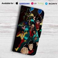 The Team Young Justice Custom Leather Wallet iPhone 4/4S 5S/C 6/6S Plus 7| Samsung Galaxy S4 S5 S6 S7 Note 3 4 5| LG G2 G3 G4| Motorola Moto X X2 Nexus 6| Sony Z3 Z4 Mini| HTC ONE X M7 M8 M9 Case