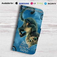 Alice Through the Looking Glass The Cat Cheshire Custom Leather Wallet iPhone 4/4S 5S/C 6/6S Plus 7| Samsung Galaxy S4 S5 S6 S7 Note 3 4 5| LG G2 G3 G4| Motorola Moto X X2 Nexus 6| Sony Z3 Z4 Mini| HTC ONE X M7 M8 M9 Case