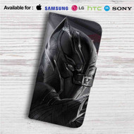 Black Panther Custom Leather Wallet iPhone 4/4S 5S/C 6/6S Plus 7| Samsung Galaxy S4 S5 S6 S7 Note 3 4 5| LG G2 G3 G4| Motorola Moto X X2 Nexus 6| Sony Z3 Z4 Mini| HTC ONE X M7 M8 M9 Case