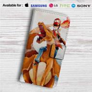 Charmander & Ash Pokemon Custom Leather Wallet iPhone 4/4S 5S/C 6/6S Plus 7| Samsung Galaxy S4 S5 S6 S7 Note 3 4 5| LG G2 G3 G4| Motorola Moto X X2 Nexus 6| Sony Z3 Z4 Mini| HTC ONE X M7 M8 M9 Case