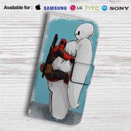 Deadpool Hug Baymax Custom Leather Wallet iPhone 4/4S 5S/C 6/6S Plus 7| Samsung Galaxy S4 S5 S6 S7 Note 3 4 5| LG G2 G3 G4| Motorola Moto X X2 Nexus 6| Sony Z3 Z4 Mini| HTC ONE X M7 M8 M9 Case