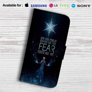 Elsa Frozen Quotes Custom Leather Wallet iPhone 4/4S 5S/C 6/6S Plus 7| Samsung Galaxy S4 S5 S6 S7 Note 3 4 5| LG G2 G3 G4| Motorola Moto X X2 Nexus 6| Sony Z3 Z4 Mini| HTC ONE X M7 M8 M9 Case