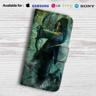 Green Arrow Custom Leather Wallet iPhone 4/4S 5S/C 6/6S Plus 7  Samsung Galaxy S4 S5 S6 S7 Note 3 4 5  LG G2 G3 G4  Motorola Moto X X2 Nexus 6  Sony Z3 Z4 Mini  HTC ONE X M7 M8 M9 Case