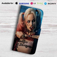 Harley Quinn Suicide Squad Movie Custom Leather Wallet iPhone 4/4S 5S/C 6/6S Plus 7| Samsung Galaxy S4 S5 S6 S7 Note 3 4 5| LG G2 G3 G4| Motorola Moto X X2 Nexus 6| Sony Z3 Z4 Mini| HTC ONE X M7 M8 M9 Case