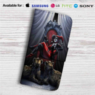 Harley Quinn Custom Leather Wallet iPhone 4/4S 5S/C 6/6S Plus 7| Samsung Galaxy S4 S5 S6 S7 Note 3 4 5| LG G2 G3 G4| Motorola Moto X X2 Nexus 6| Sony Z3 Z4 Mini| HTC ONE X M7 M8 M9 Case