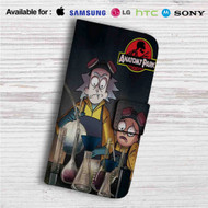 Rick and Morty Anatomy Park Custom Leather Wallet iPhone 4/4S 5S/C 6/6S Plus 7| Samsung Galaxy S4 S5 S6 S7 Note 3 4 5| LG G2 G3 G4| Motorola Moto X X2 Nexus 6| Sony Z3 Z4 Mini| HTC ONE X M7 M8 M9 Case