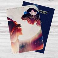 Aladdin and Jasmine Disney Custom Leather Passport Wallet Case Cover