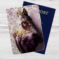 Alice Through the Looking Glass Alice Custom Leather Passport Wallet Case Cover