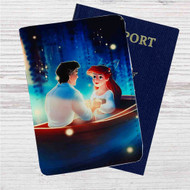 Ariel and Eric Disney Custom Leather Passport Wallet Case Cover